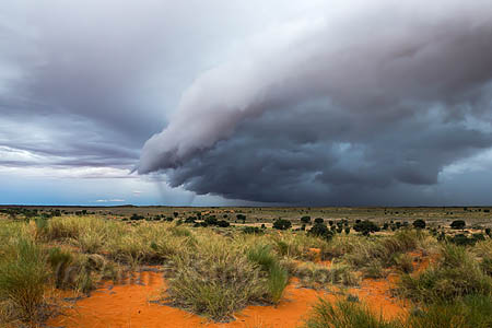 Storm clouds gathering menacingly over the Kgalagadi earlier this year