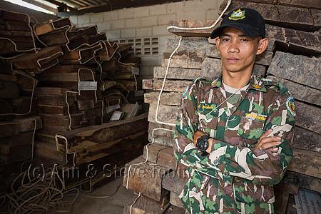 RCS48 Pang Sida ranger Wisak Thongseekram at evidence store cont
