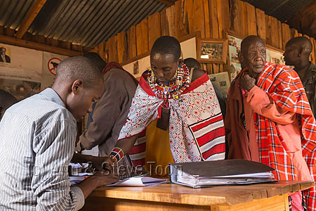 ACP08 Maasai claiming payment at the Predator Compensation Fund
