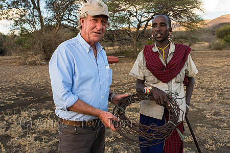 ACP10 Richard Bonham with Maasai and poaching snares