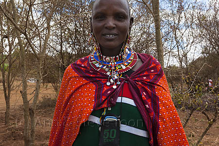 ACP11 Maasai woman attending the Predator Compensation Fund pay