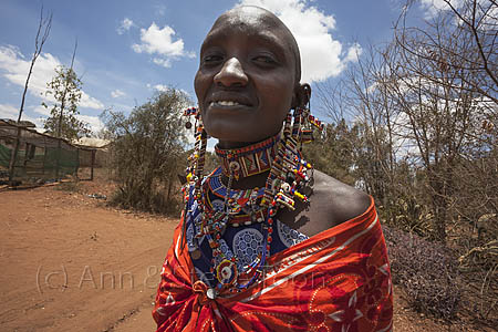 Member of the Maasai community at the payday event