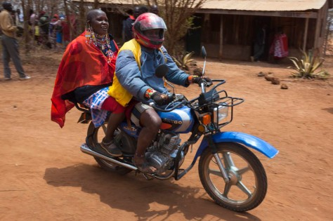 ACP19 Maasai couple arriving at Predator Compensation Fund Pay D