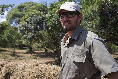Simon Naylor, reserve manager of &Beyond Phinda private reserve, at white rhino bomas, KwaZulu Natal, South Africa, February 2013
