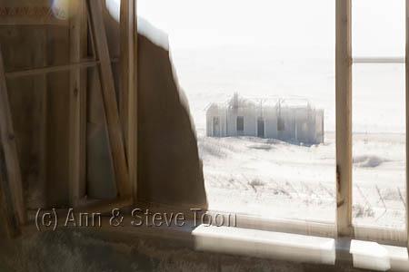 Kolmanskop ghost town abstract