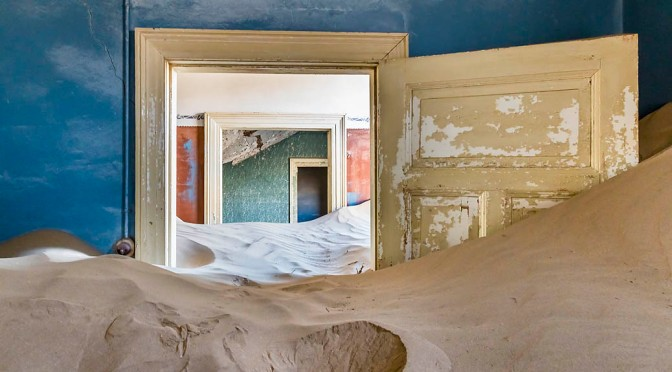 Interior detail, Kolmanskop ghost town